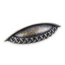 "(3173) 5 1/8"" Cup Pull With Braid Detail Jeffery Alexander Ashton"