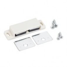 (50621-R) Double Magnetic Catch White
