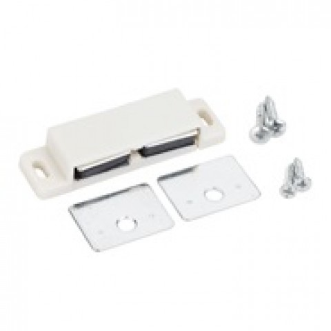 (50621-R) Double Magnetic Catch White  ** CALL STORE FOR AVAILABILITY AND TO PLACE ORDER **