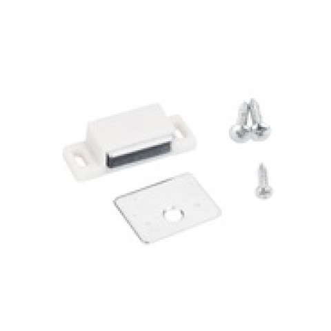 (50631-R) Single Magnetic Catch White  ** CALL STORE FOR AVAILABILITY AND TO PLACE ORDER **