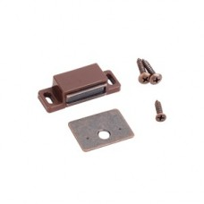 (50632-R) Single Magnetic Catch Brown/ Bronze