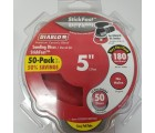 Diablo 5 in. 180-Grit Random Orbital Sanding Disc with StickFast Backing and Easy Pull Tabs (50-Pack)