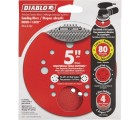 Diablo 5 in. 80-Grit Universal Hole Random Orbital Sanding Disc with Hook and Lock Backing (4-Pack)