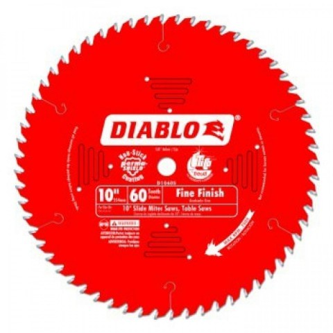 10 in. x 60 Tooth Fine Finish Diablo Saw Blade
