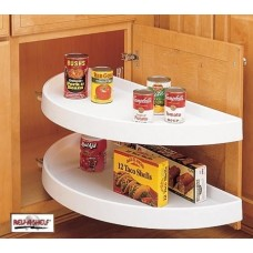 (RAS-6882-33-11-570)  Rev-A-Shelf 33in Half Moon Shelf Set - 2-Shelf Pivot & Slide (White)