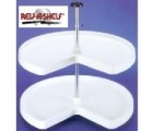 "(RV3472-32WH)   32"" Value Line Kidney Shelf Set, White"