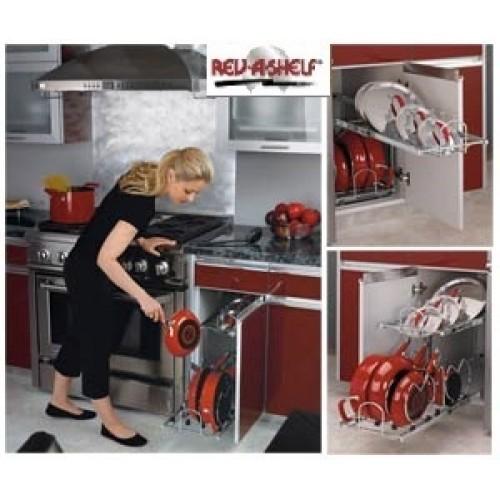 RV5CW21222CR) Rev-A-Shelf Two-Tier Cookware Organizer