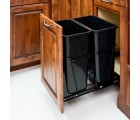 (CAN-35-D)  35-Quart Double Pullout Waste Container System - Black  ** CALL STORE FOR AVAILABILITY AND TO PLACE ORDER **