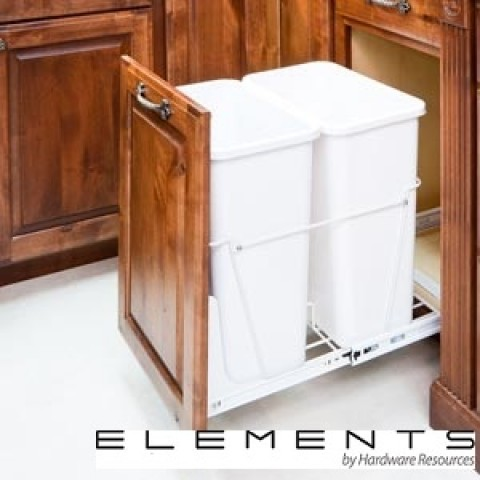 (CAN-35-DW)  35-Quart Double Pullout Waste Container System - White  ** CALL STORE FOR AVAILABILITY AND TO PLACE ORDER **
