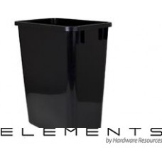 (CAN-35)  35-Quart Waste Container - Black