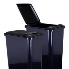 (CAN35-LID)  Lid for 35-Quart Waste Container - Black
