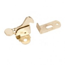 (EC01-PB) Polished Brass- Elbow Catch with strike
